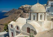 Santorini, Fira, an orthodox church royalty free stock images