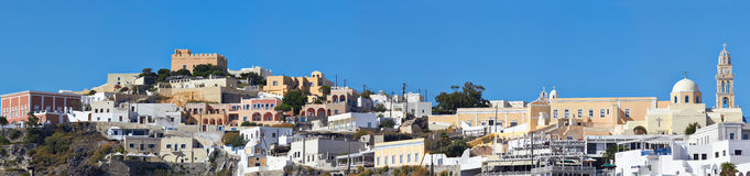 Santorini Fira panorama Stock Photos
