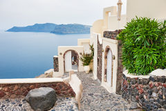 santorini för ö för byggnadsgreece kull Royaltyfria Foton