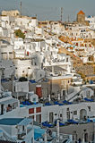 Santorini generic architecture at sunset Royalty Free Stock Images