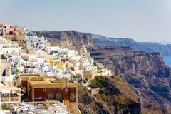 Santorini gränsmärkesikt Royaltyfria Bilder
