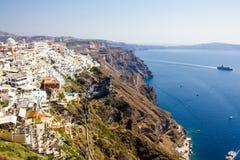 Santorini gränsmärkesikt Fotografering för Bildbyråer