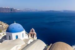 Santorini gränsmärkesikt Royaltyfria Foton