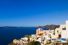 santorini grec de vue de mer d'architecture d'île Photo stock