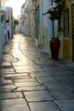 Santorini. Grece travel street stone island Stock Photography