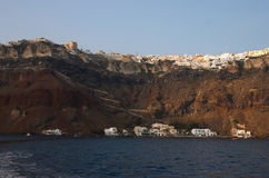 Santorini, Grecia, caldera Fotografia Stock Libera da Diritti