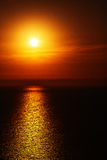 In santorini    gree ce sunset and the sky mediterranean red sea Stock Photography
