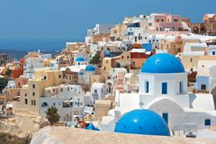 Santorini. Greece. Oia village at Santorini island. Greece Royalty Free Stock Image