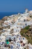 Santorini, Greece. Oia village at Santorini island. Greece Stock Images
