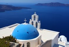 Santorini in Greece Stock Photo
