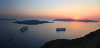 Santorini in Greece Royalty Free Stock Photos