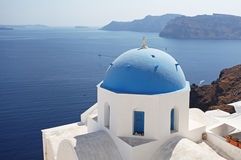 Santorini in Greece Stock Photography