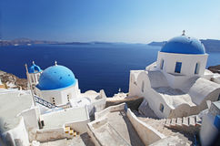 Santorini in Greece Stock Photos
