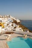 Santorini, Greece. Beautiful view to Thira, Santorini Stock Photography