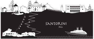 santorini greece Ilustracja Wektor