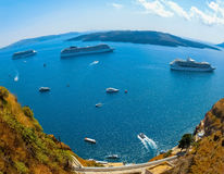 Santorini, Greece - The beautiful view of marina Stock Photo