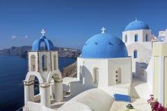 Santorini in Greece Stock Photo