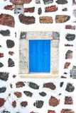 Santorini, Greece: detail of a window from a traditional typical Royalty Free Stock Photo