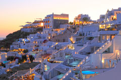 SANTORINI IN GREECE Stock Images
