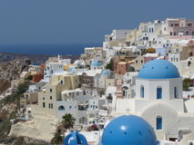 Santorini greece island Stock Photo
