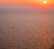 In santorini    greece  and the sky mediterranean red sea Royalty Free Stock Photo