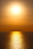 In santorini    greece sunset and the sky mediterranean red sea Royalty Free Stock Image