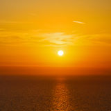 In santorini    greece sunset and the sky mediterranean red sea Royalty Free Stock Photography