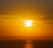 In santorini    greece sunset and the sky mediterranean red sea Royalty Free Stock Photos