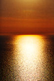 In santorini    greece sunset and the sky mediterranean red sea Royalty Free Stock Photo