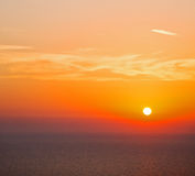 In santorini    greece sunset and the sky mediterranean red sea Royalty Free Stock Images