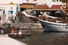 Santorini, Greece, Thirassia Imagens de Stock