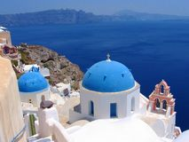 Santorini, Greece. Traditional greek church in Santorini Stock Image