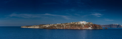 Santorini, Greece, view from a cruise boat Stock Photography
