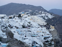Santorini Greece White Houses on the Cliffs Stock Photography