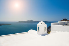 Белая архитектура на острове Santorini, архитектура GreeceWhite Стоковые Изображения RF