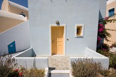Santorini Greek Buildings Royalty Free Stock Photo