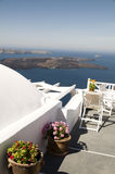 Santorini greek island view volcano Stock Image