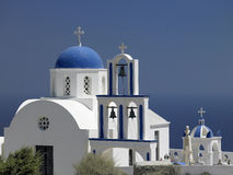 Santorini in the Greek Islands Stock Image