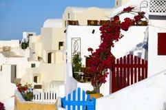 Santorini grego clássico da arquitetura do console Fotografia de Stock