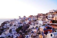 Santorini. Grekland Arkivbild