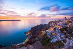 Santorini Grekland Arkivfoto