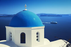 Santorini, Griechenland. stockbild