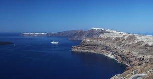 Santorini in Griechenland lizenzfreies stockbild