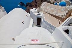 Santorini, Griekenland, Juli 2013 Royalty-vrije Stock Foto's