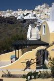Santorini Hügel-Ansicht Lizenzfreie Stockfotos