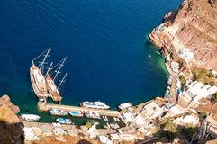 Santorini harbour, Aegean Sea, Cyclades Stock Images