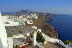 Santorini top striking view Greece Royalty Free Stock Photos