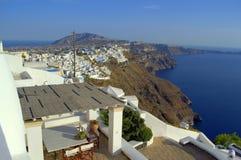 Santorini top striking view Greece royalty free stock photos