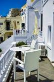 Santorini Hotel Royalty Free Stock Images