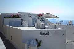 Santorini hotel Stock Images